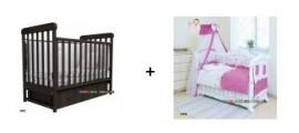 Кроватка Верес + постель Twins 8 эл. - вместе дешевле! Скидка до - 50% на постельный комплект!