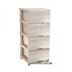 """Комод """"Дерево"""" кремовый Алеана 123093"""
