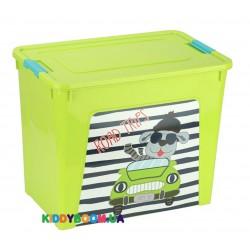 Ящик для игрушек Алеана Smart Box  с декором My car (40 л) 123099