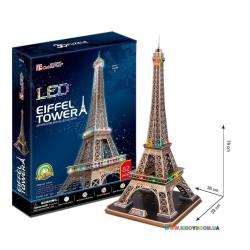 Интерактивная игрушка 3D пазл CubicFun Эйфелева башня LED Alrey L091h