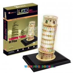 3D пазл CubicFun Пизанская башня с LED подсветкой L502h