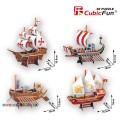 3D пазл CubicFun История судостроения T4001h