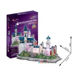 Интерактивная игрушка 3D пазл CubicFun Замок Нойшванштайн LED Alrey L174h