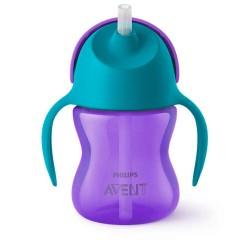 Чашка с трубочкой 200 мл ( 9 мес+) для девочки Avent SCF796/02