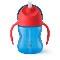 Чашка c трубочкой 200 мл ( 9 мес+) для мальчика Avent SCF796/01