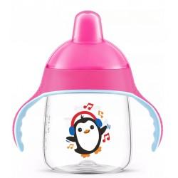 Чашка-непроливайка с носиком (260 мл) розовая с 12-ти мес Avent SCF753/07