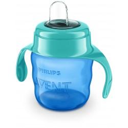 Чашка-непроливайка Philips AVENT с мягким носиком 200 мл 6 мес+ Синяя (SCF551/05)