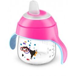 Чашка-непроливайка Philips AVENT c мягким носиком 200 мл 6 мес+ Розовая (SCF751/07)