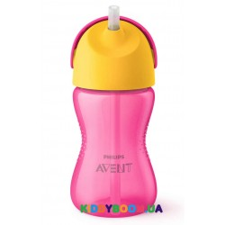 Чашка с трубочкой Avent (300 мл.)  для девочки от 12 мес. SCF798/02