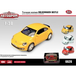 Модель VW-New Beetle металлическая инерционная Автодром 6626