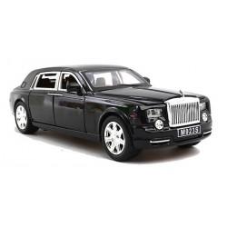 Машина металлическая Rolls-Royce black (свет, звук, двери открываются) Автопром 7687B