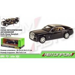Машинка металлическая Rolls-Royce (свет, звук, двери открываются) Автопром 7693