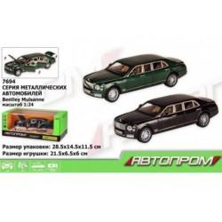 Машина металлическая Bentley Mulsanne (свет, звук, двери открываются) Автопром 7694