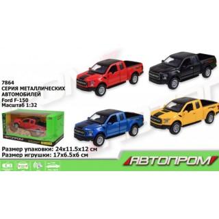 Машина металлическая Ford F-150 на батарейках (свет, звук) Автопром 7864