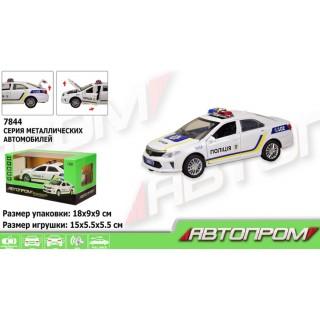 Машина металлическая Toyota полиция (свет, звук, на батарейках) Автопром 7844