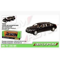 Машина металлическая Mercedes Benz maybach black (свет, звук, двери открываются) Автопром 7686B