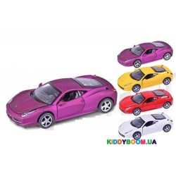 Машина металлическая на батарейках Ferrari 1:32 (свет, звук) Автопром 3201C
