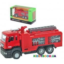 Машина металлическая Пожарная машина на батарейках (свет, звук) Автопром 5001