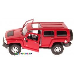 Машина металлическая на батарейках 1:24 Hummer H3, 2 цвета (свет, звук) Автопром 68240A