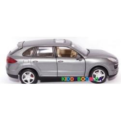 Машина металлическая 1:24 Porsche Cayenne S, 2 цвета (свет, звук) Автопром 68241A