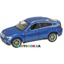 Машина металлическая 1:24 BMW X6, 2 цвета на батарейках (свет, звук) Автопром 68250A