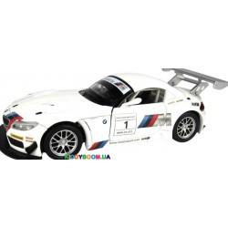 Машина металлическая 1:24 BMW Z4 GT3 на батарейках (свет, звук) Автопром 68260A