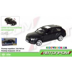 Машина металлическая 1:45 Bentley Bentayga (matte black series) Автопром 7627