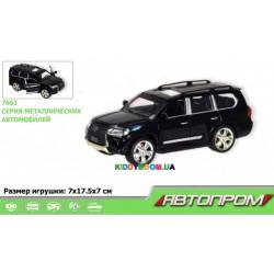 Машина металлическая Lexus,  2 цвета на батарейках (свет, звук) Автопром 7663