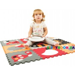 Игровой коврик – пазл Веселый зоопарк BabyGreat  GB-M129A4