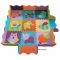Игровой коврик-пазл «Веселый зоопарк» с бортиком BabyGreat GB-M129А2Е
