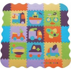 Игровой коврик-пазл «Быстрый транспорт» с бортиком BabyGreat GB-M129V2Е
