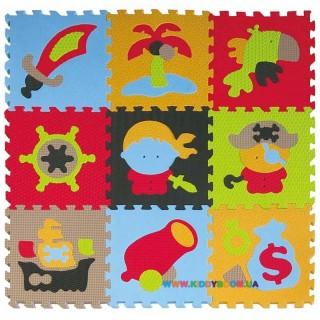 Игровой коврик-пазл «Приключения пиратов» BabyGreat GB-M1503