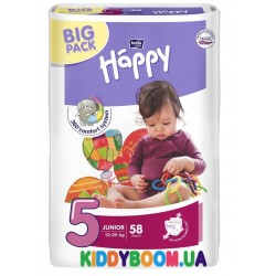 Подгузники Bella Happy Baby Junior 5 Green Tea 58 шт. (12-25 кг)