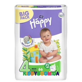 Подгузники Bella Happy Baby Green Tea 3D Maxi 4 (8-18кг) 66 шт.