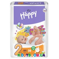 Подгузники Bella Happy Baby Green Tea Mini 2 (3-6 кг) 38 шт.