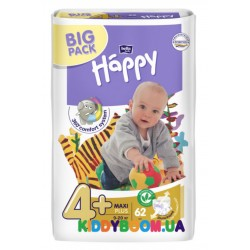 Подгузники Bella Happy Baby Green Tea Maxi 4+ (9-20 кг) 62 шт