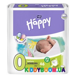 Подгузники Bella Happy Baby Green Tea before Newborn (0-2 кг) 46 шт.