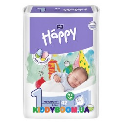 Подгузники Bella Happy Baby Green Tea Newborn 1 (2-5 кг) 42 шт.