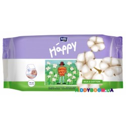 Салфетки Happy Silk&Cotton (64 шт) Bella Happy