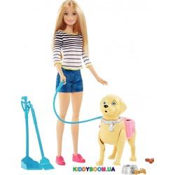 Набор Mattel Barbie Прогулка с питомцем DWJ68