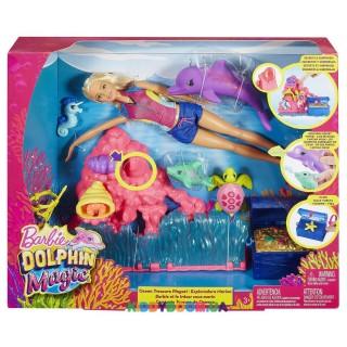 Набор с куклой Сокровища океана: Магия дельфинов Barbie FCJ29
