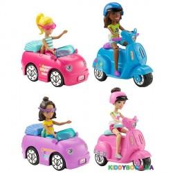 Кукла Barbie On the GO с транспортом (в ассортименте 4 вида) Mattel FHV76