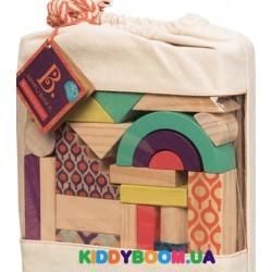 Набор деревянных кубиков Еловая избушка (40 шт) Battat BX1361Z