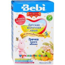 Каша молочная Bebi гречка - курага, яблоко (с 5 мес.) 200 гр.