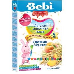 Молочная овсяная каша Bebi Premium® с персиком 200 г.