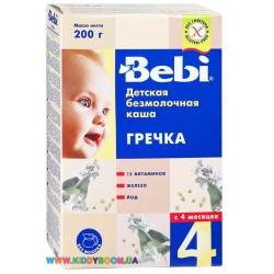 Каша безмолочная Bebi гречневая(с 4 мес.) 200 гр.