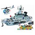 Конструктор Военный корабль (843 эл) Brick 821