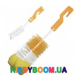 Ёршик с губкой (2-е штуки) для мытья бутылочек Бусинка 1005