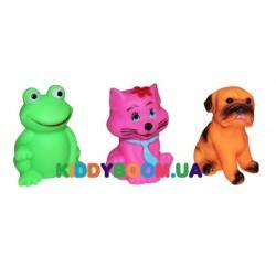 Набор резиновых игрушек-пищалок (3 шт.) Бусинка 8847