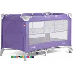Манеж-кровать Carrello Piccolo+ Spring Purple со вторым дном CRL-9201/1